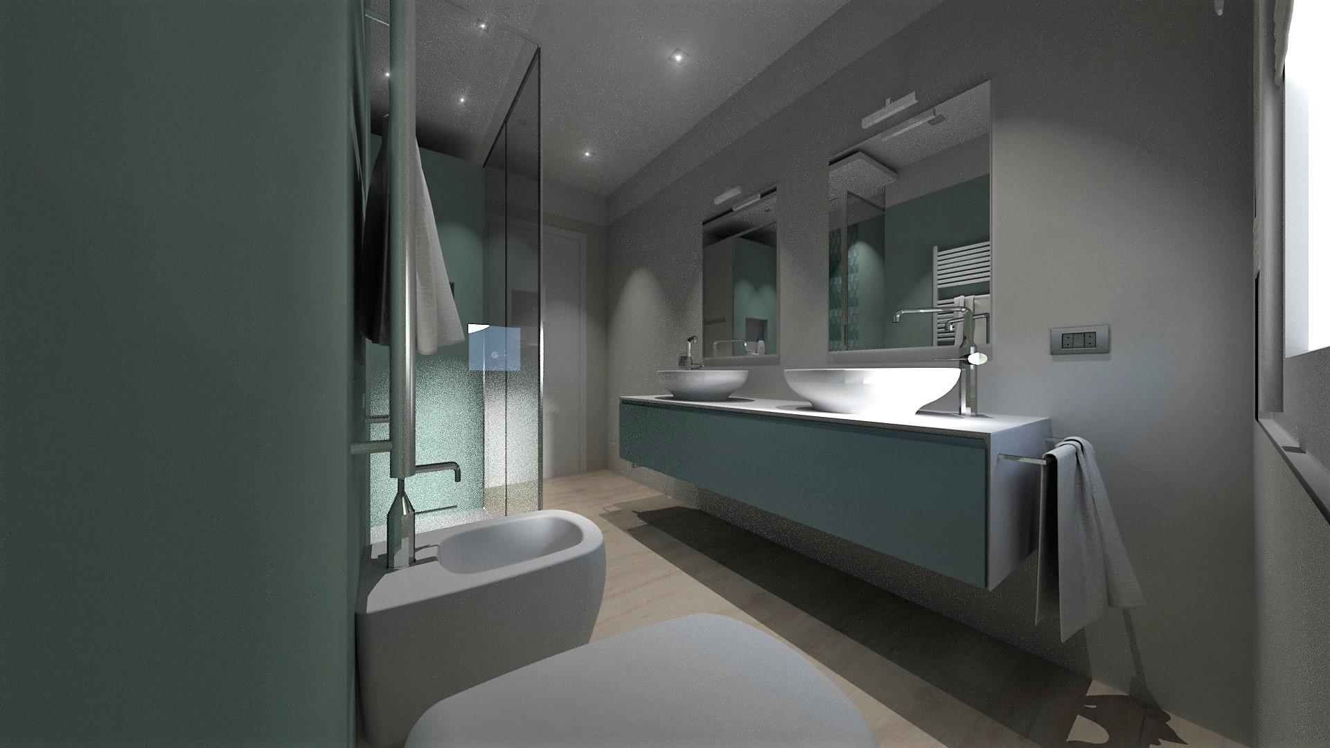 Progetto bagno moderno