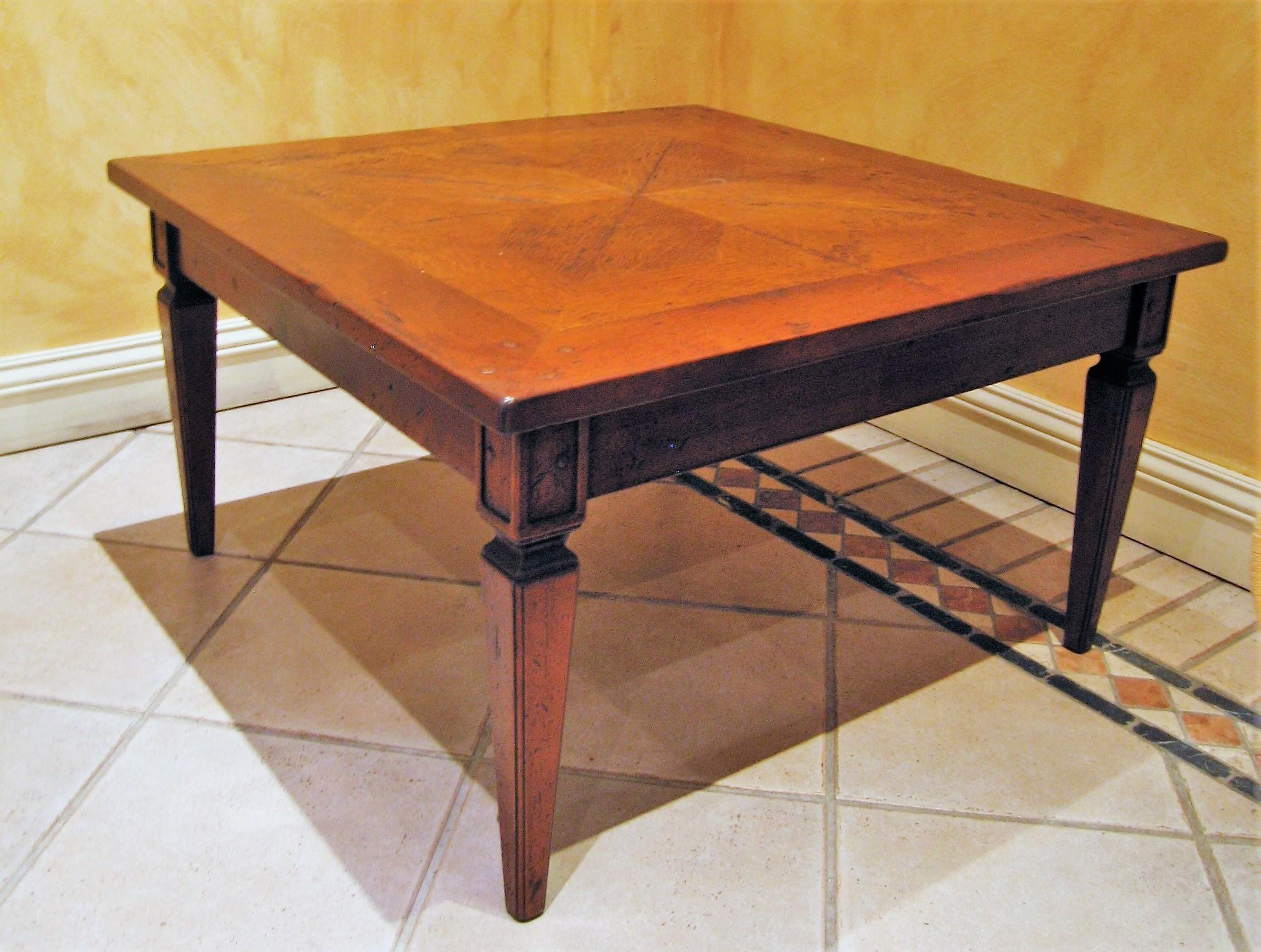 Tavolino Parquette di rovere