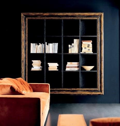 Libreria sospesa in rovere Ego Zeroventiquattro